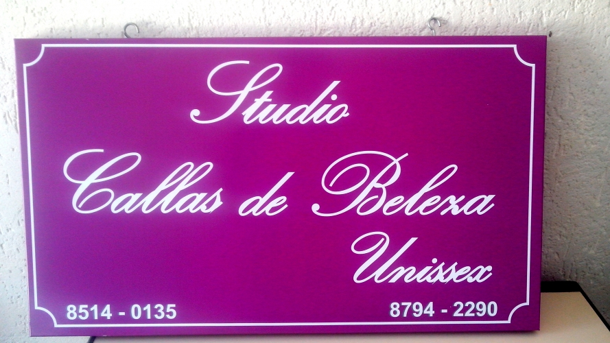 PLACA DUPLA FACE EM CHAPA COM IMPRESS�O DIGITAL